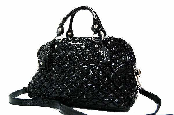 Miu Capsule Edition Asia 2010 カプセルエディション Limited Patent Leather Quilted 2way Mini Boston Handbag Black Brand New As Well Fs3gm