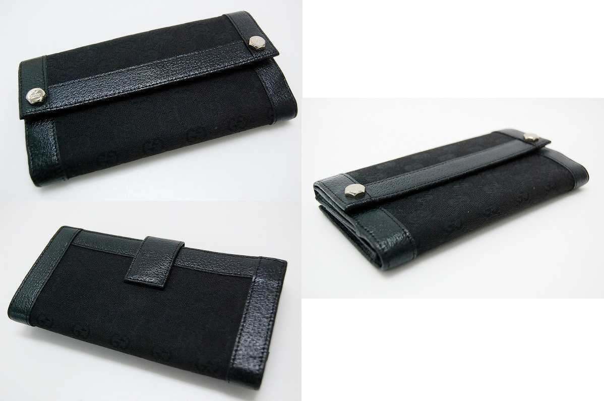 Gucci CHARMY (charmy) GG W hook length wallet black 153211