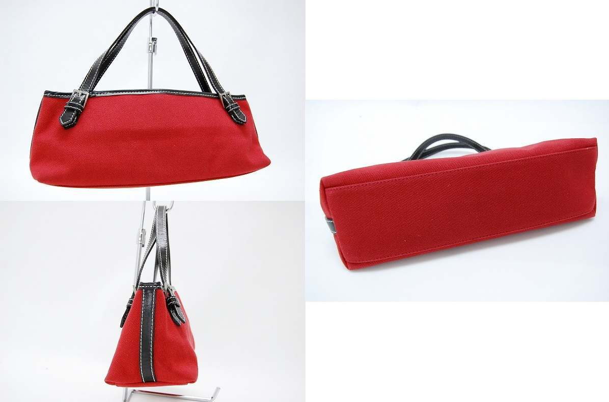 Burberry Blue label canvas mini tote bag Red