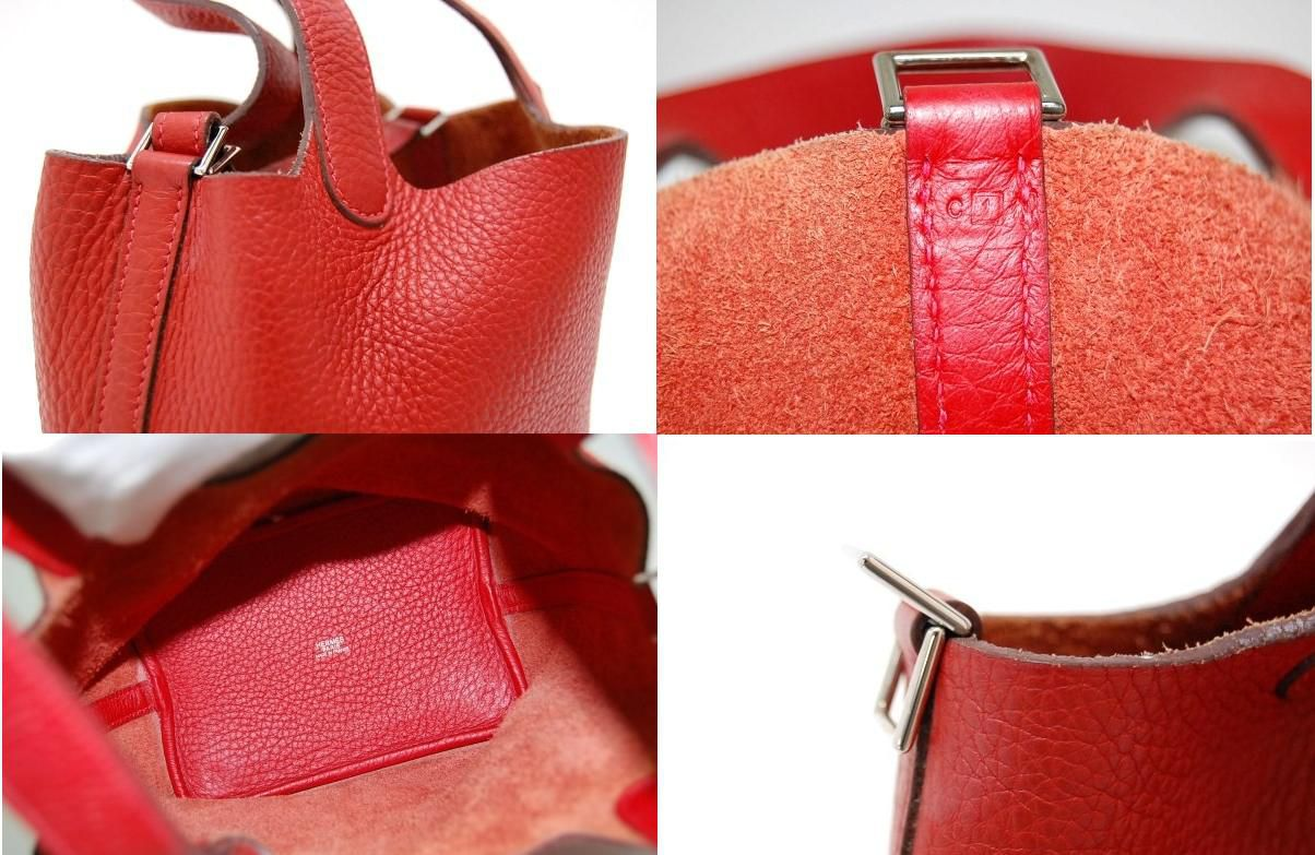 Hermes Picota in PM handbag triyoncremans Rouge Garance I ever-fs3gm02P05Apr14M
