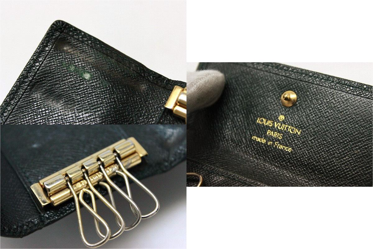"Louis Vuitton Taiga leather key holder 4 4-key case epicene M30524 ""response.""-fs3gm"