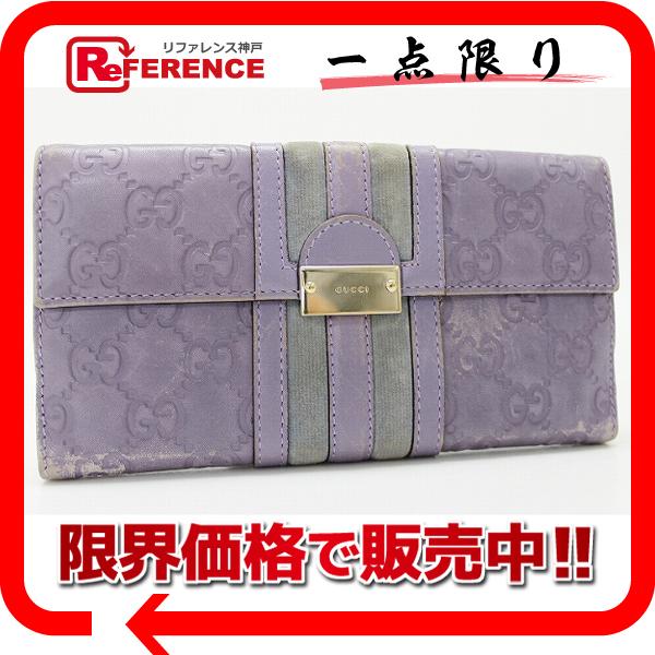 """Gucci TREASURE (treasure) guccissima W hook length wallet purple 150674 """"response.""""-fs3gm02P05Apr14M02P02Aug14"""