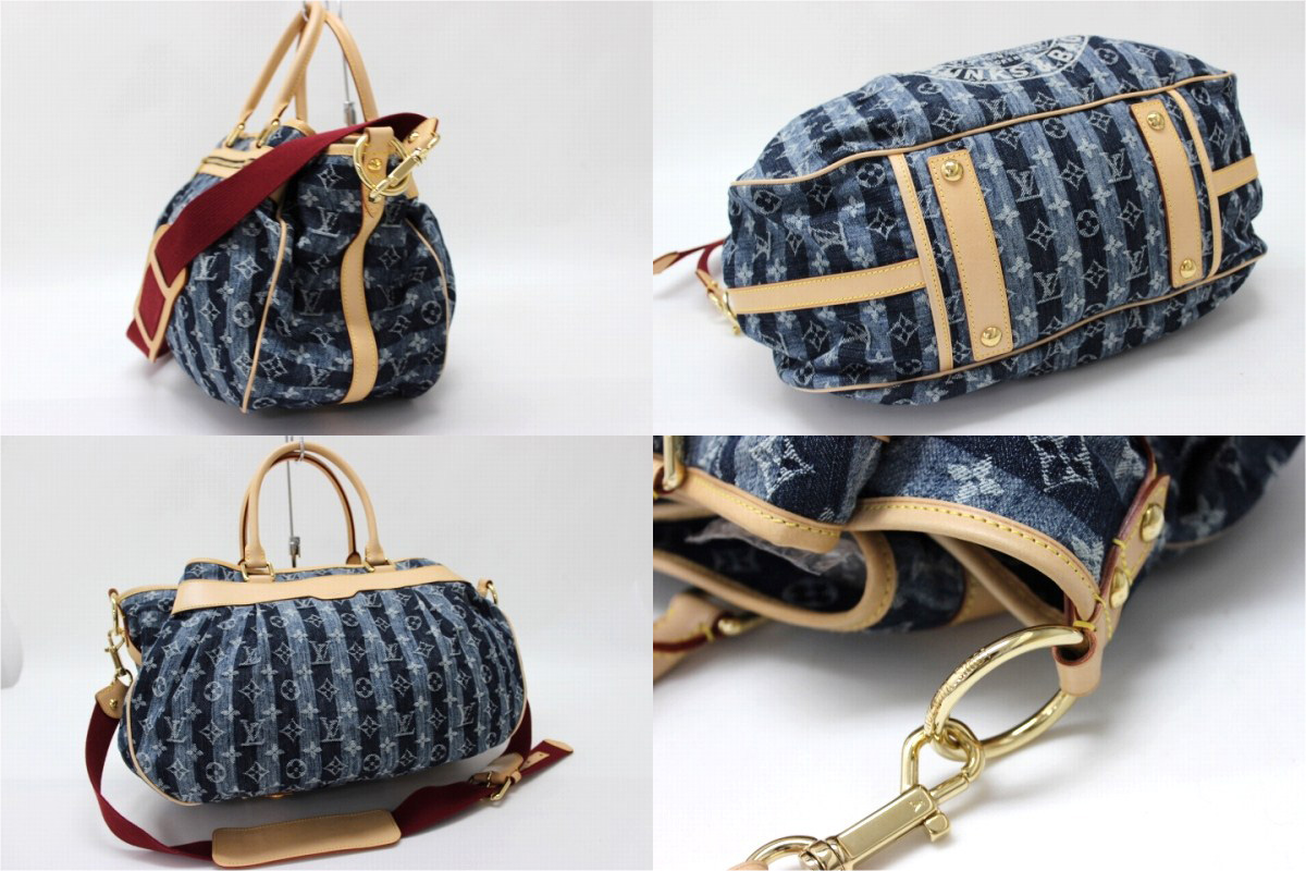 "》 fs3gm 02P05Apr14M for 《 for Louis Vuitton 2,007 years as well as Cruise line monogram denim ""カバレイエ GM"" 2WAY handbag blue M95336 new article"