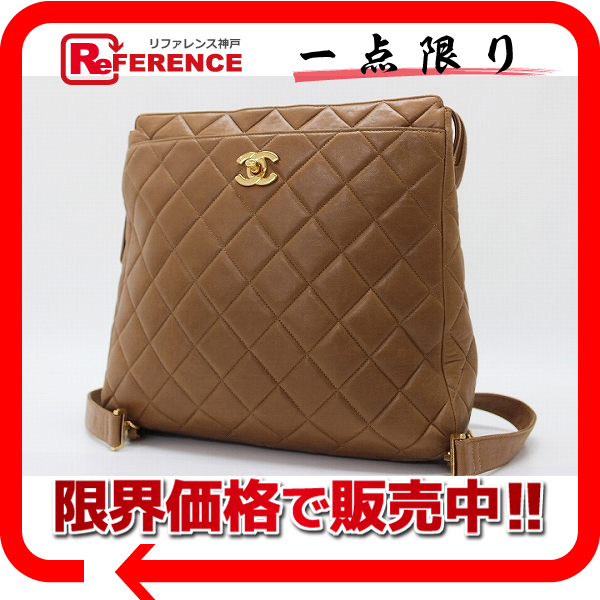 CHANEL lambskin quilting rucksack brown 》 fs3gm 02P05Apr14M for 《