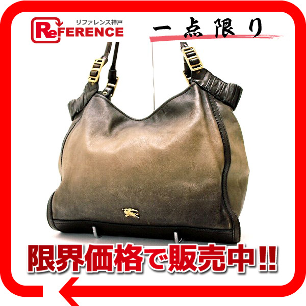 """Burberry leather tote bag ブラウングラデーション? s support.""""fs3gm"""