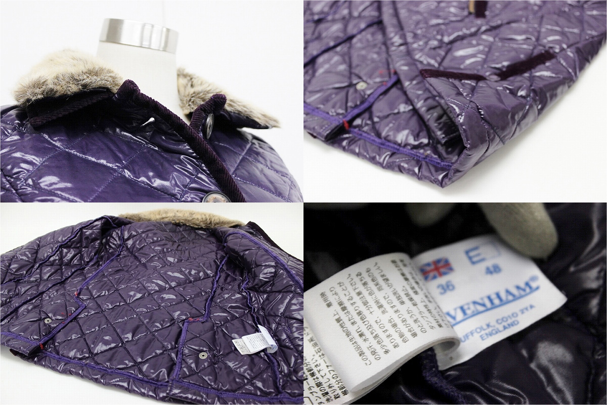 "Lavenham nylon Quilted Jacket 36 purple ""response.""-fs3gm02P05Apr14M02P02Aug14"