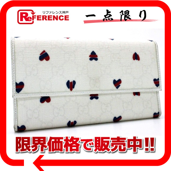 GUCCI Gucci GG plus heart 3tsu折ri Director wallet white 257303 0601 Rakuten card Division
