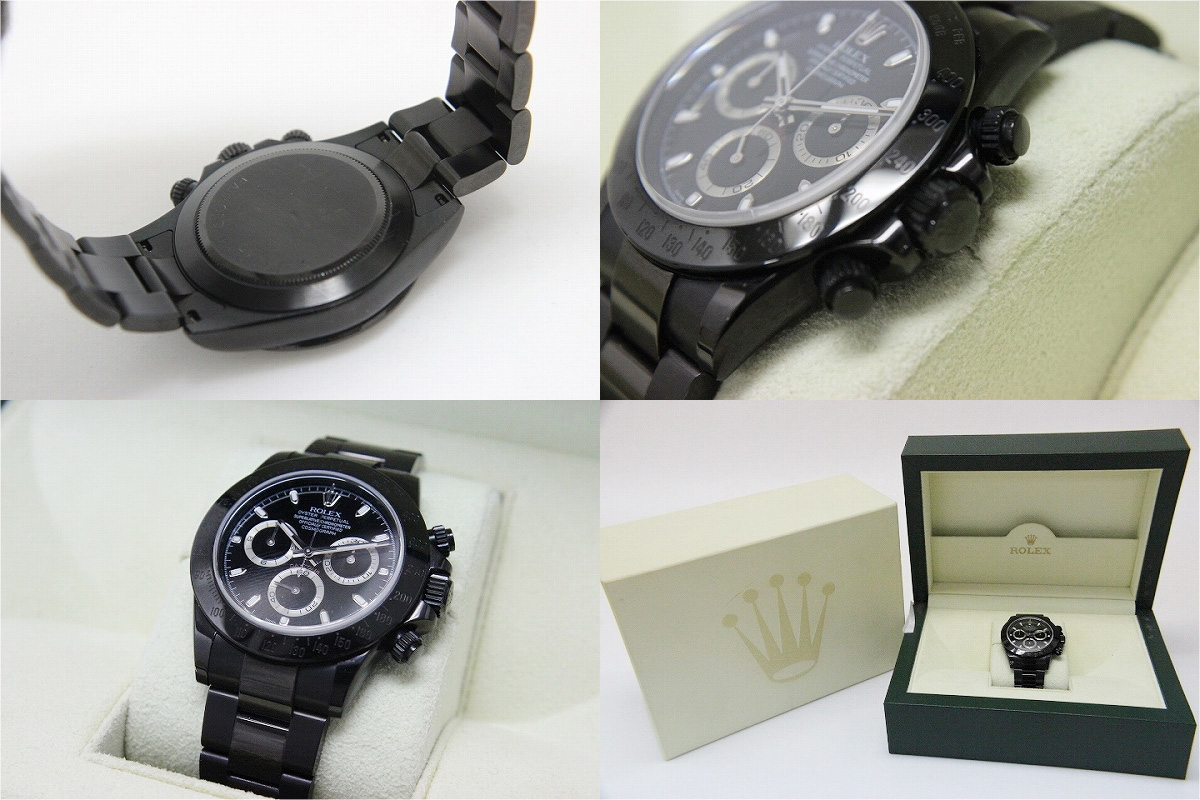 "Acquired Japan ☆ ☆ Rolex BAMFORD カスタムデイトナ Cosmograph mens watch LIMITED EDITION PVD black 116520 beauty products ""enabled."""