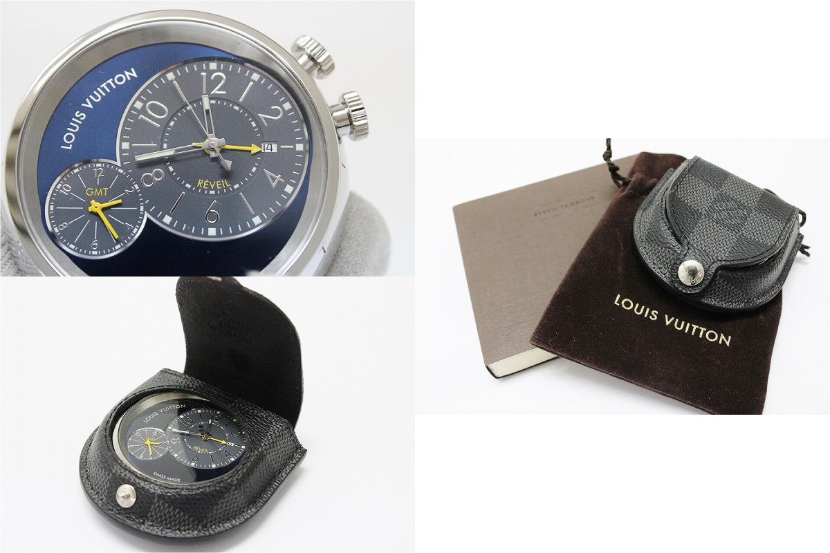 "》 fs3gm SS Q181E with table clock ダミエグラフィットケース-free in Louis Vuitton ""tambour alarm clock blue"" GMT for 《"