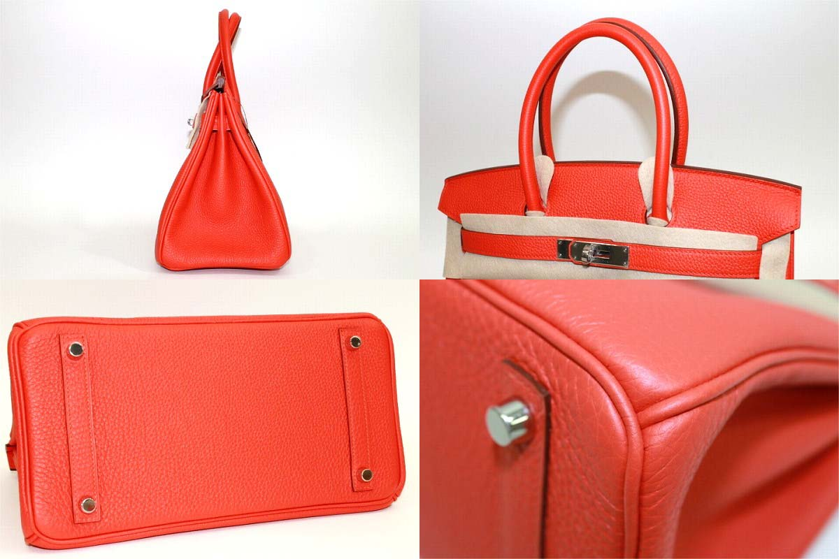 "☆ spring summer collection popular color ☆ Hermès's handbag Birkin 30 slope capucine silver bracket Q time ""response."""