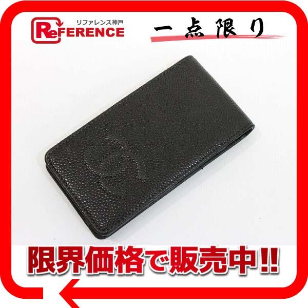 CHANEL シャネル キャビアスキン CC iPhoneケース 4/4S  グレー 新品同様 【中古】