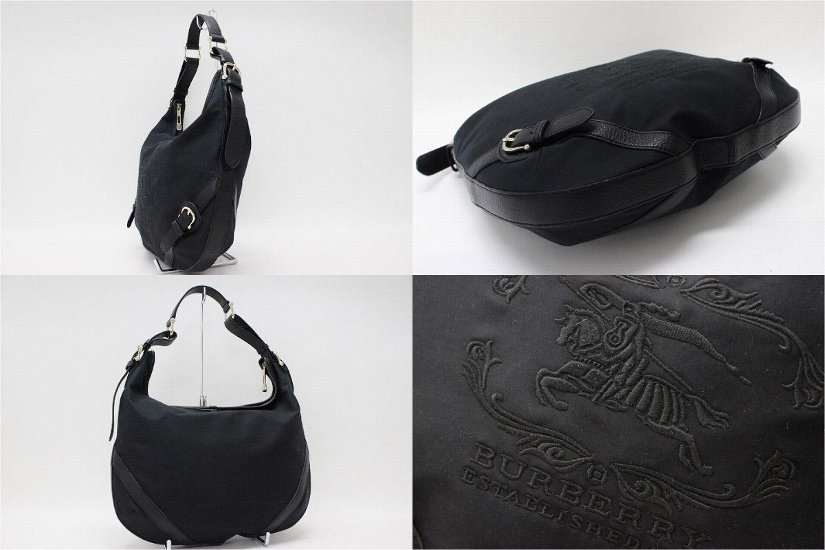 """Burberry セミショルダー bag black """"response."""""""