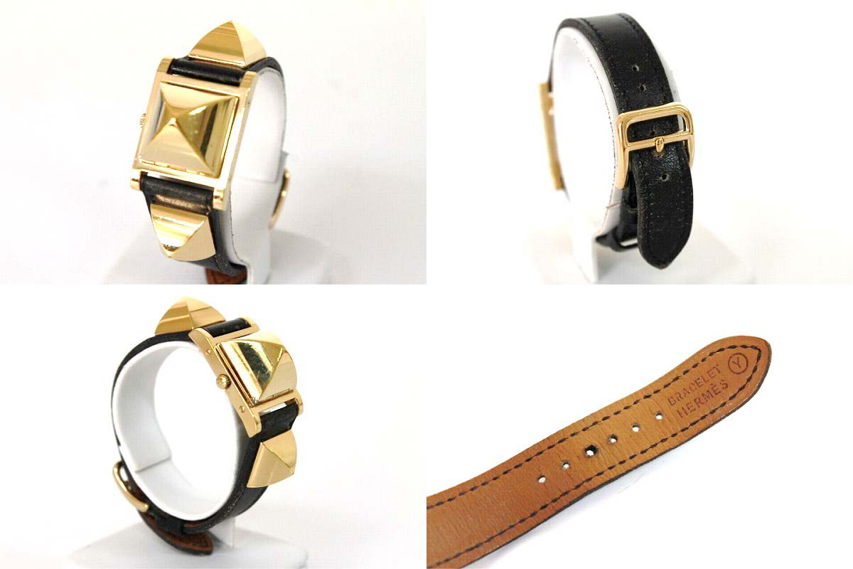 "Fs3gm Hermes メドール ladies watch bocc scarf black Y inscribed ""response."""