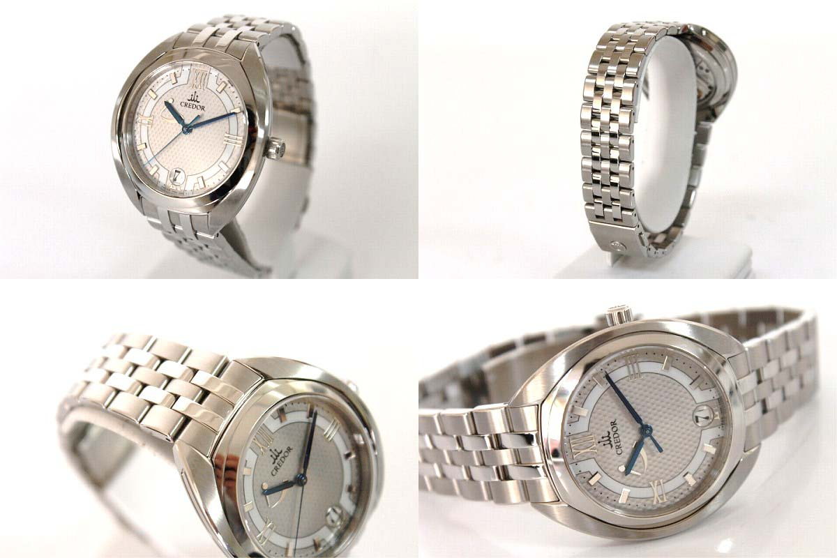 "Seiko credor signo spring drive men's watch hand rolled GCLH983 as good as new ""response.""-fs3gm"