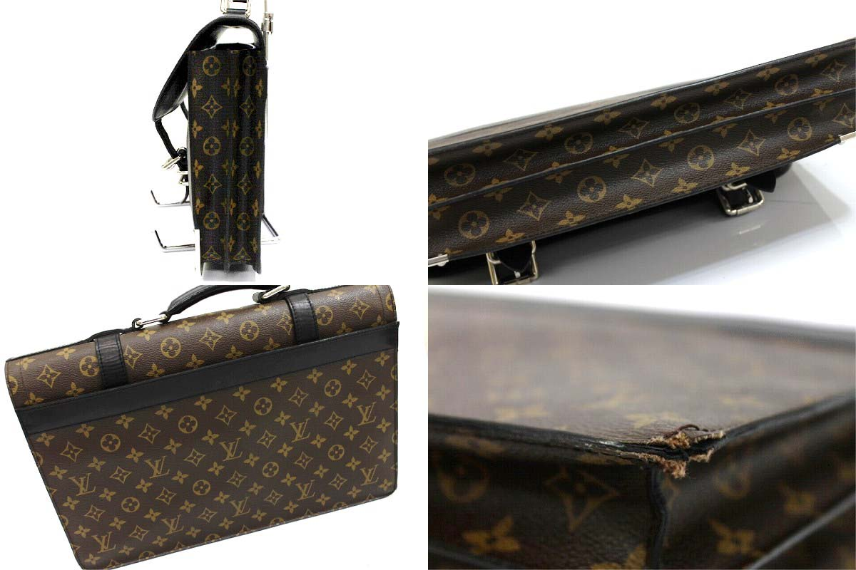 "LOUIS VUITTON 2004 Men's Collection Monogram ""Larry"" Business Bag M92292"