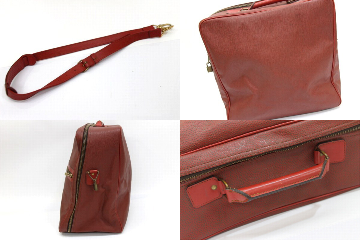 "1987 Louis Vuitton LV Cup limited large 2-WAY Boston bag red ""support."""