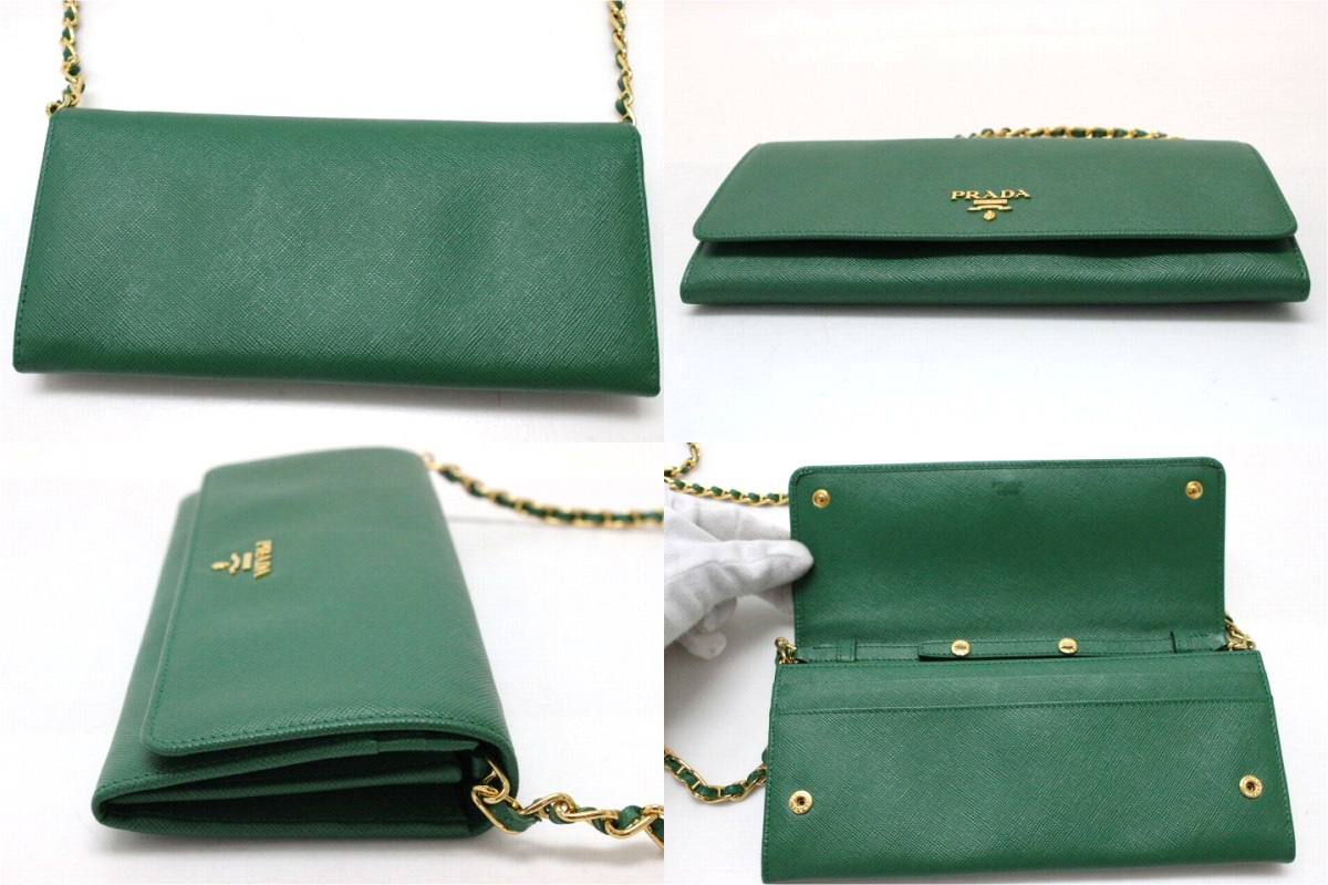 Prada Wallet Green