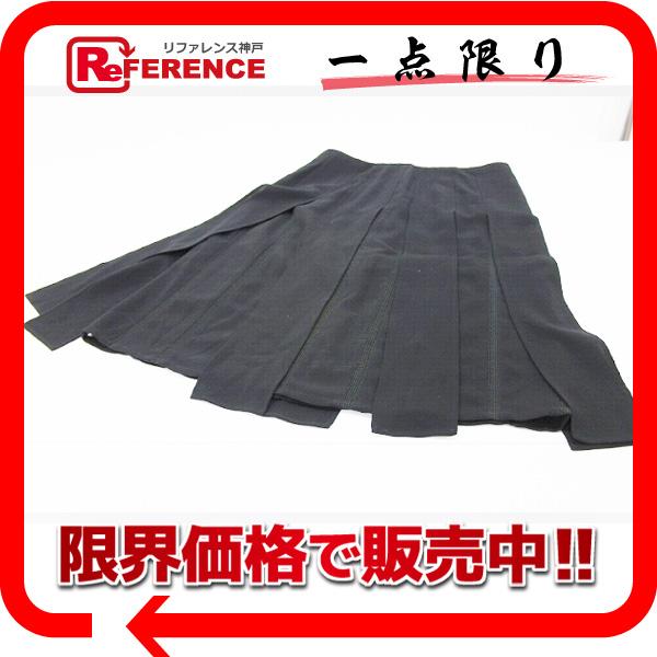CHANEL シャネル 99P ウール デザインスカート ブラック 38 【中古】