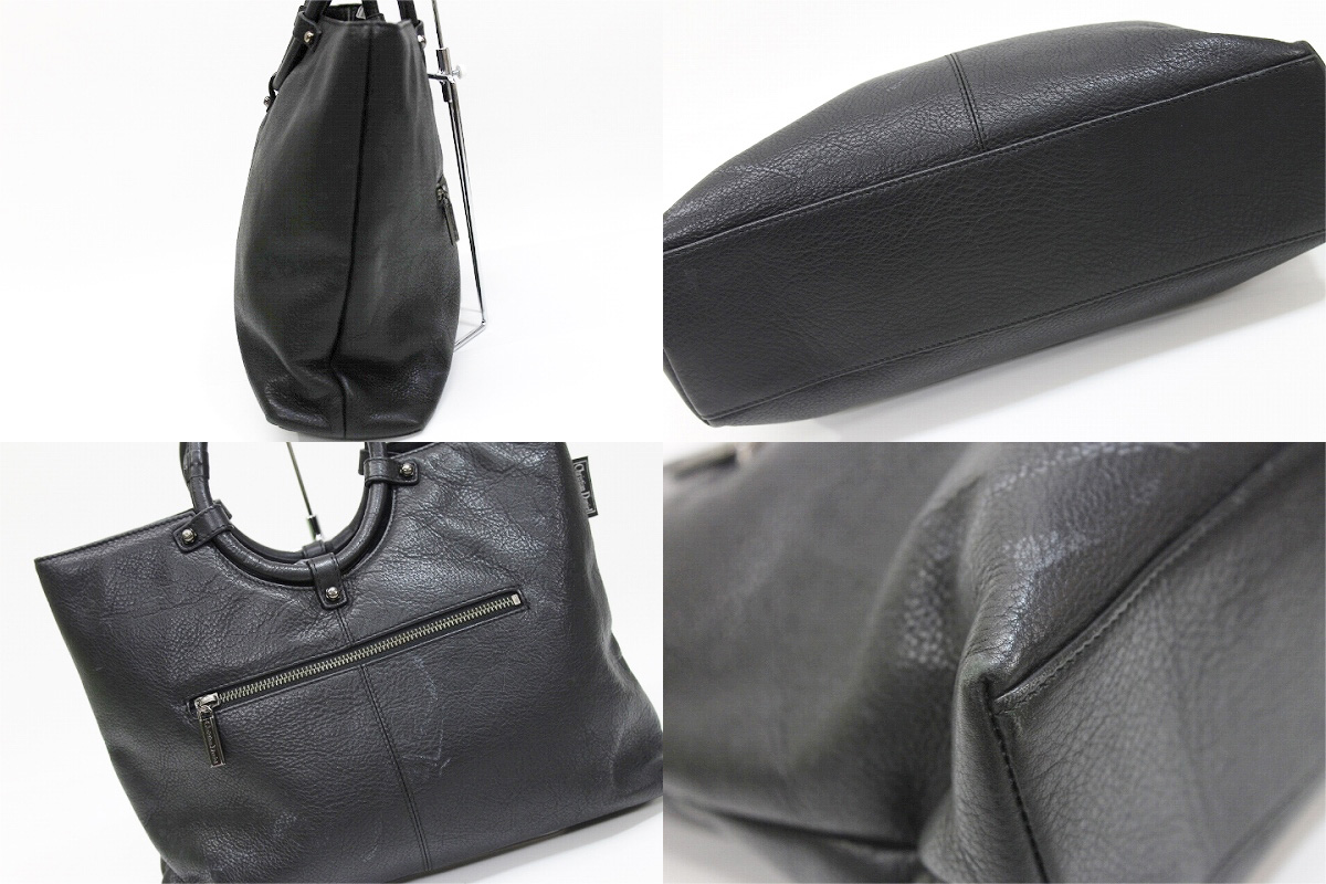 "Christian Daniel leather handbag black ""response."""