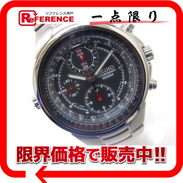SEIKO セイコー クロノグラフ メンズ腕時計 クォーツ SS 7T92-0EZ0 KK 【中古】