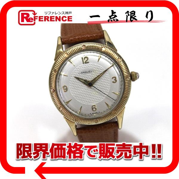 CARAVELLE キャラベル K10金張り 自動巻 アンティーク メンズ腕時計 KK 【中古】