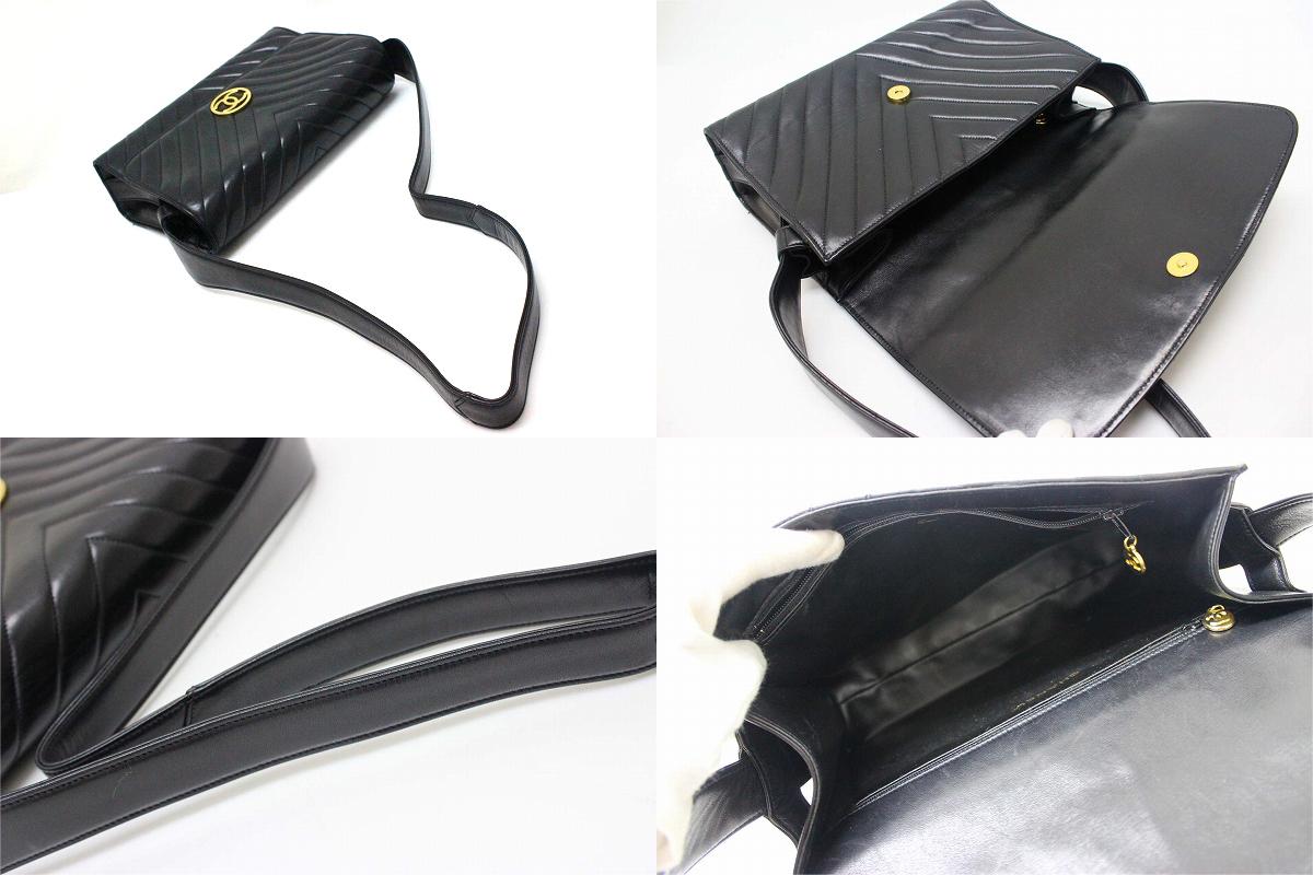 de675dac2405 BRANDSHOP REFERENCE  Chanel lambskin Chevron V stitch shoulder bag ...