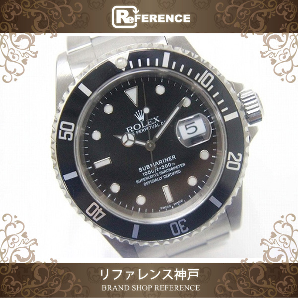 4551c2572edc ROLEX Submariner Date Men s Wristwatch Oyster Perpetual SS Automatic 16610  A-Engraved