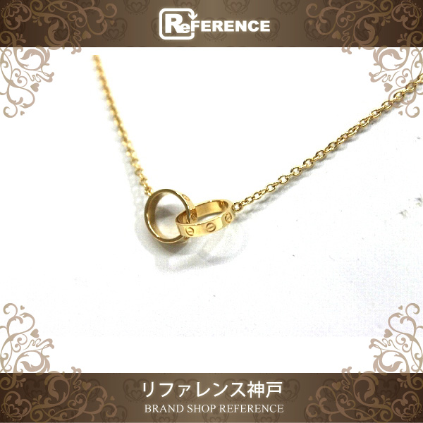 Cartier カルティエ ベビーラブネックレス K18YG 未使用 【中古】