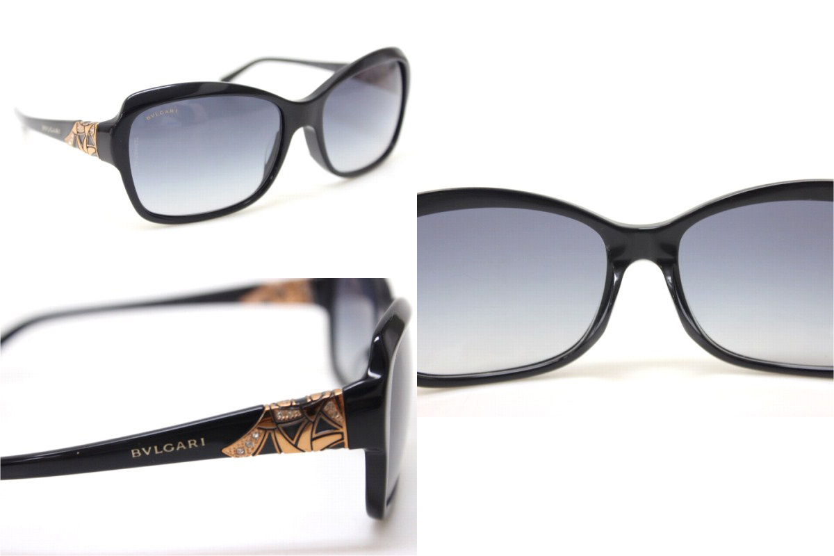 BVLGARI Bulgari sunglasses black / pink 8153-B-F new as well as used KK
