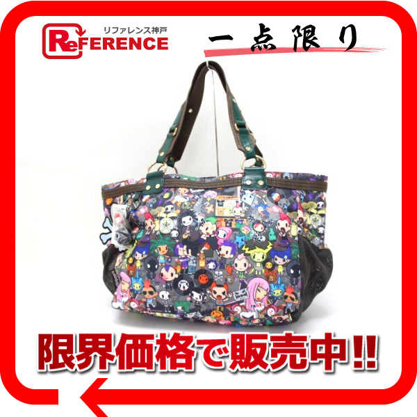 Lesportsac Tokidoki X As Well Collaboration With Amica Conserto Punk Concerto Tote Bag Brand New Pre Kk