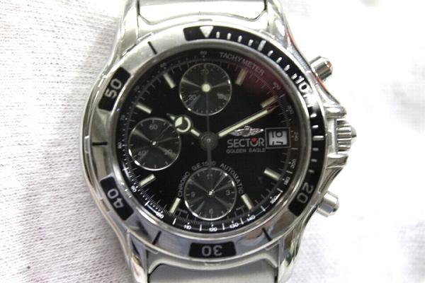 部門部門金鷹 1500年計時男士手錶 SS 自動纏繞銀 / 黑版 KK