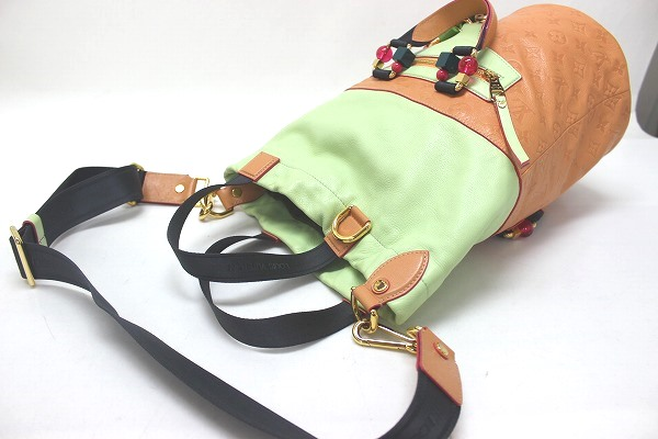 LOUIS VUITTON Louis Vuitton 2010 spring/summer collection Monogram underground Duffle 3WAY bag rose × light green M40364 beauty products 0601 Rakuten card Division