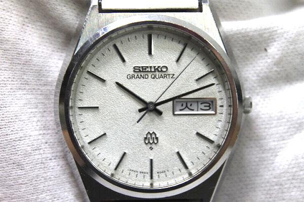 SEIKO Seiko Grand twin quartz men's watch quartz SS antique 9943-8030 KK 0601 Rakuten card Division