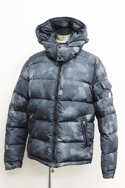 MONCLER MONCLER MAYA (Mayan) camouflage men's Hooded down jacket Aoyama shop limited 1 grey systems 0601 Rakuten card Division