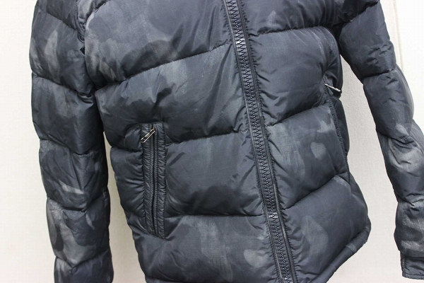 MONCLER MONCLER MAYA (Mayan) camouflage men's Hooded down jacket 1 grey systems 0601 Rakuten card Division