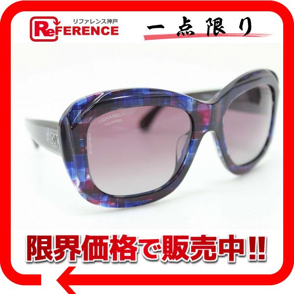 CHANEL シャネル サングラス ブルー×ピンク系 5324-A 新品同様 【中古】 KK
