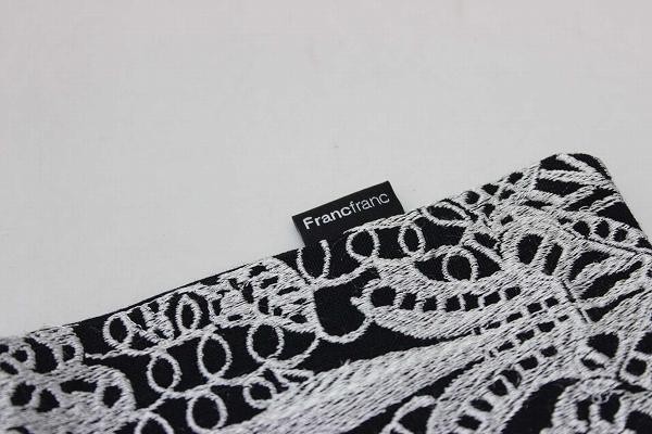 Francfranc francfranc 靠垫黑 x 白 KK 0601 乐天卡司