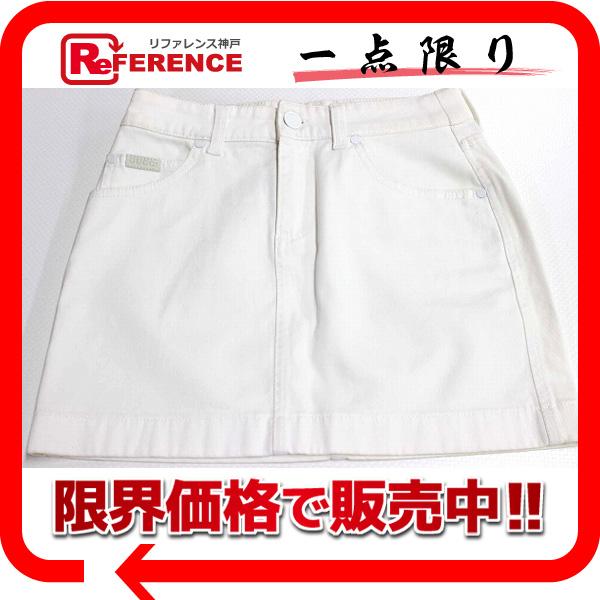 GUCCI グッチ GUCCIOLI(グッチョリ) チワワ ミニスカート 36 ホワイト 【中古】 KK