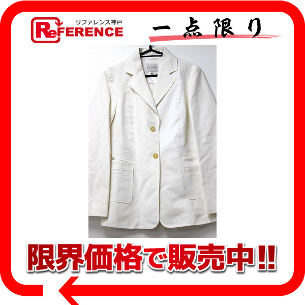 CELINE セリーヌ コットン パンツスーツ 42 ホワイト 【中古】 KK