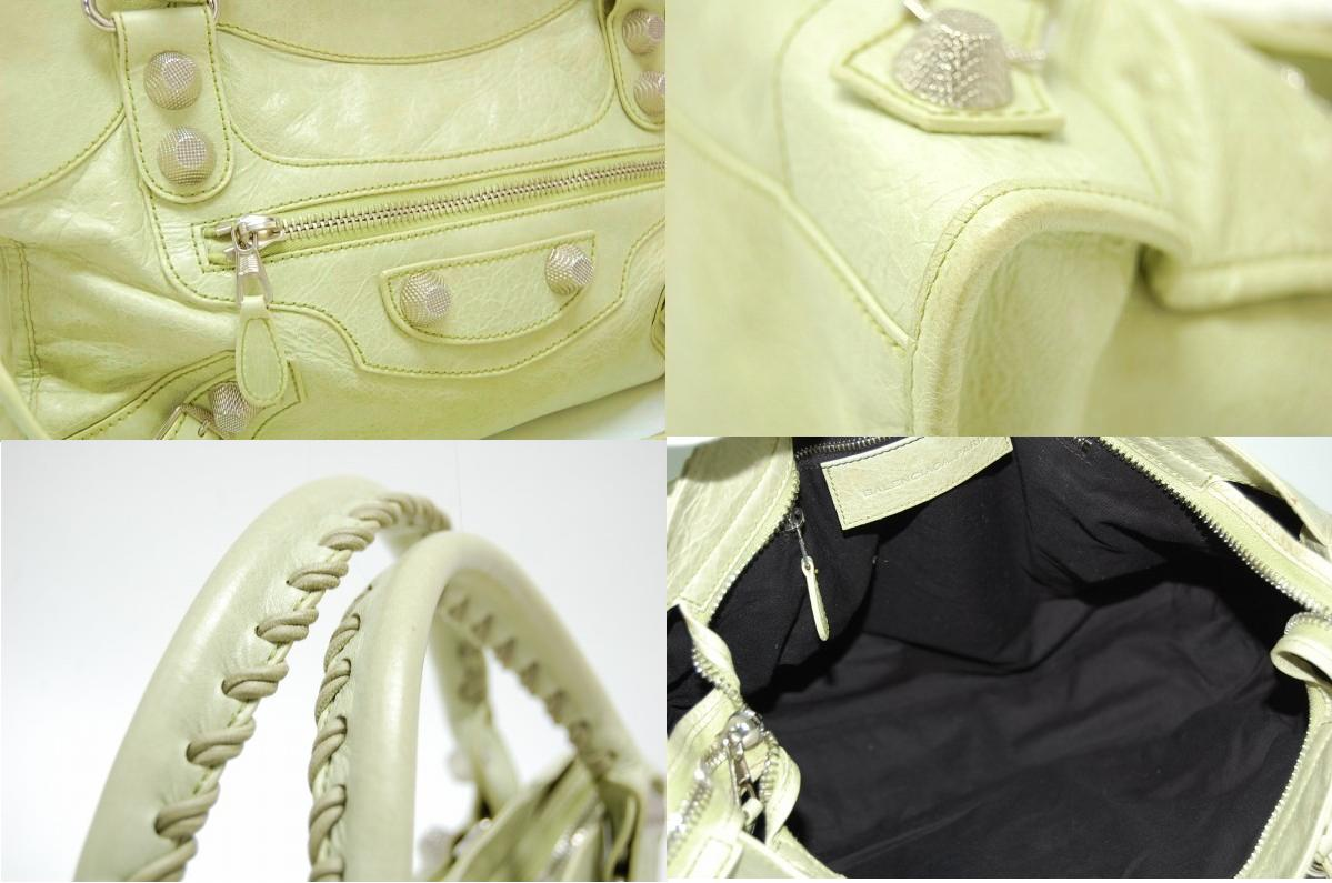 "Balenciaga bag (light green) ""the ジャイアントシティ"" Granny 173084 fs3gm"