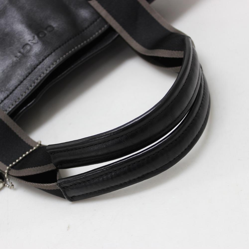 教练教练 F70558 2 折叠式手提袋遗产 Web 手提袋皮革男装