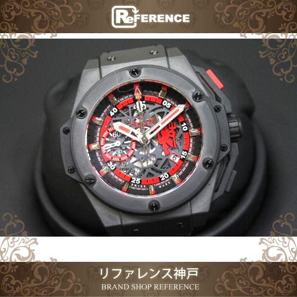 HUBLOT ウブロ 716.CI.1129.RX.MAN11 メンズ腕時計 レッドデビル キングパワー 腕時計 チタン/セラミック ブラック【中古】