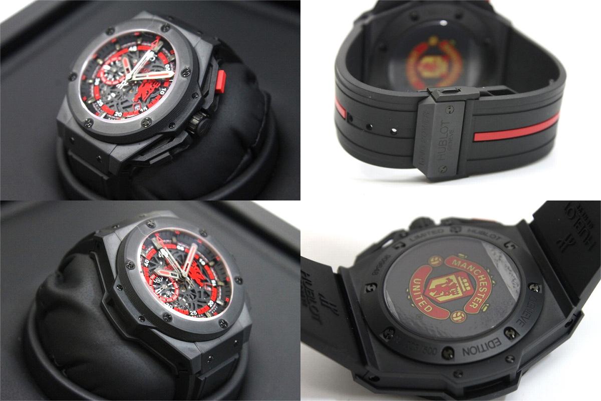 恒寶恒寶世界 500 限量版王電源紅魔鬼曼聯男裝手錶 48 毫米自動纏繞黑色 716.CI.1129.RX.MAN11 新品牌,以及使用