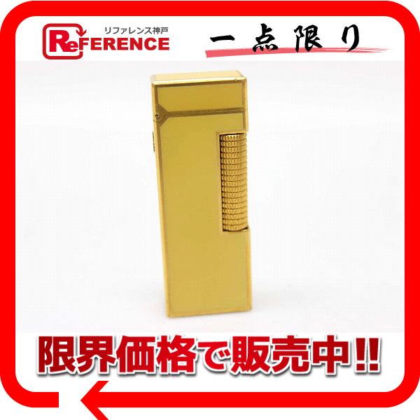 Dunhill ダンヒル ローラガスライター 喫煙具 メンズ レディース ライター ラッカー/メタル ゴールド ユニセックス【中古】