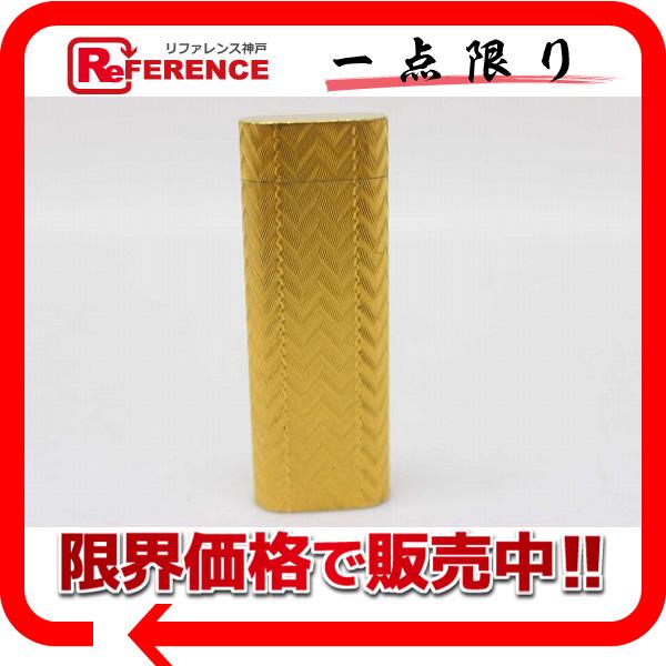 CARTIER カルティエ ガスライター 喫煙具 オーバル ライター メタル ゴールド ユニセックス【中古】