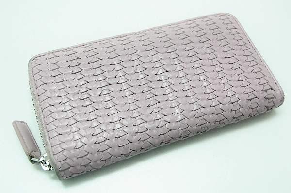 Dior ディオール ラウンドファスナー長財布 メンズ レディース メッシュ 長財布(小銭入れあり) ラムスキン ピンク ユニセックス【中古】