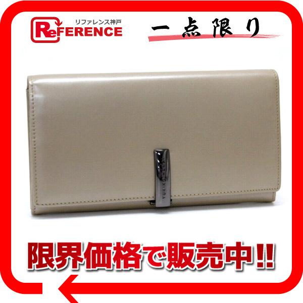 "Yukiko Hanai lastialworrett two-fold wallet sale beige ""response.""-02P02Aug14"
