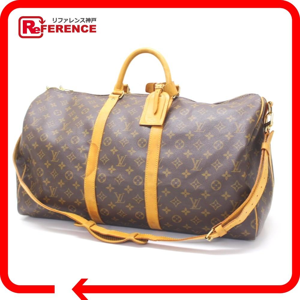 Authentic Louis Vuitton Monogram Keepall Bandouliere55 Duffle Bag Monogramcanvas M41414