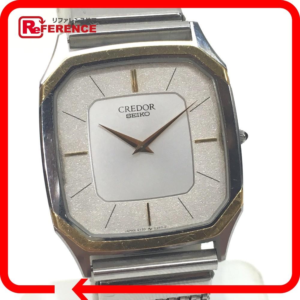 SEIKO セイコー 6730-5130 クレドール 腕時計 SS×18K ボーイズ【中古】