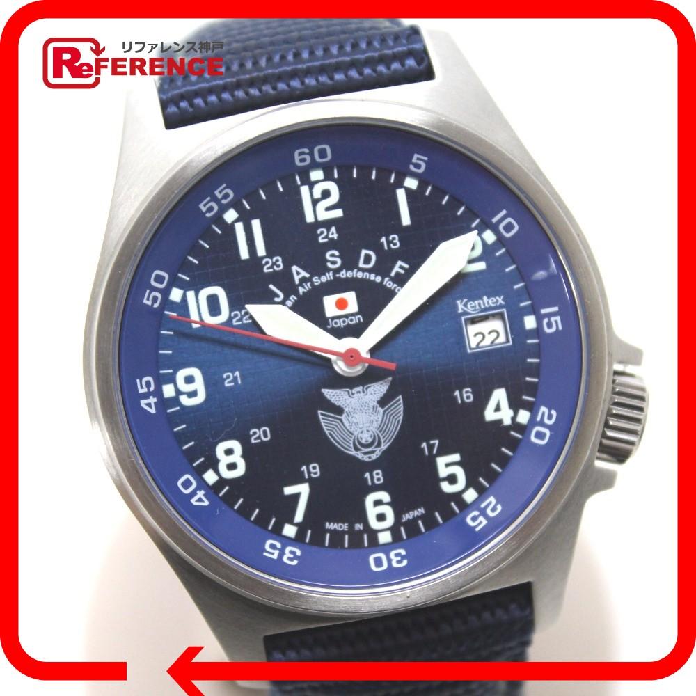 ケンテックス S455M メンズ腕時計 JASDF Standard スタンダード 腕時計 SS/PU メンズ【中古】